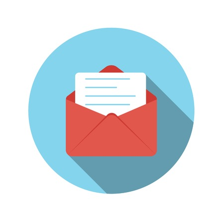 Flat Design Concept Email Send Icon