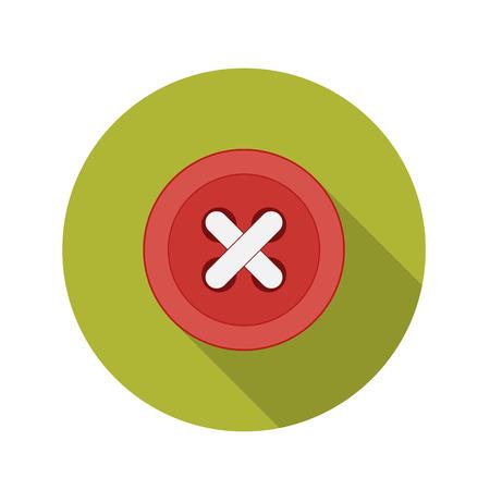 managment: Flat Design Concept Button Icon  Illustration