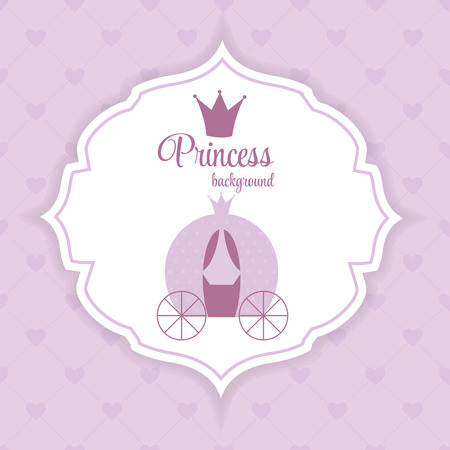 brougham: Princess Crown  Background Vector Illustration.