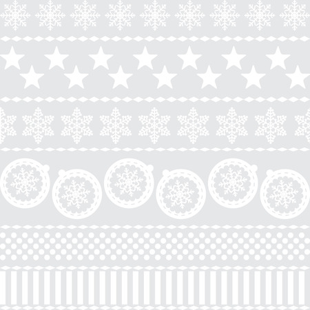 Winter Christmas New Year Seamless Pattern Beautiful Texture wi Vector