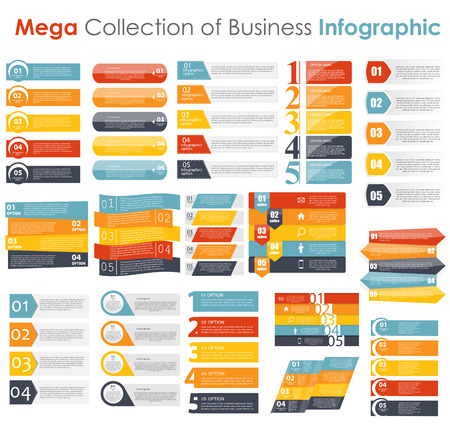 collection: Collection of Infographic Templates for Business Vector Illustration
