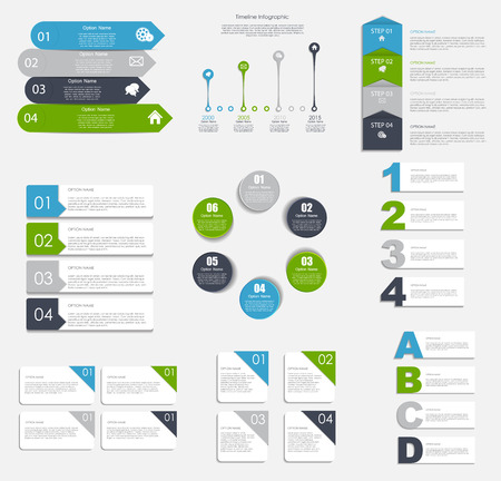 Collection of Infographic Templates for Business Vector Illustra