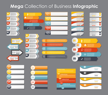 digital paper: Infographic Templates for Business Vector Illustration. EPS10