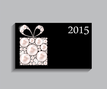 x mas parties: Abstract Beauty 2015 New Year Background. Vector Illustration