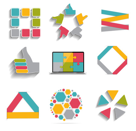 mega city: Collection of Infographic Templates for Business Vector Illustration