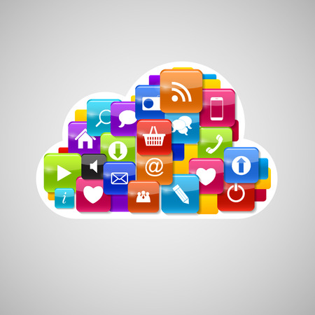 Cloud Computing Icon. Vector Illustration Vector