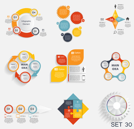 info graphic: Collection of Infographic Templates for Business Vector Illustra