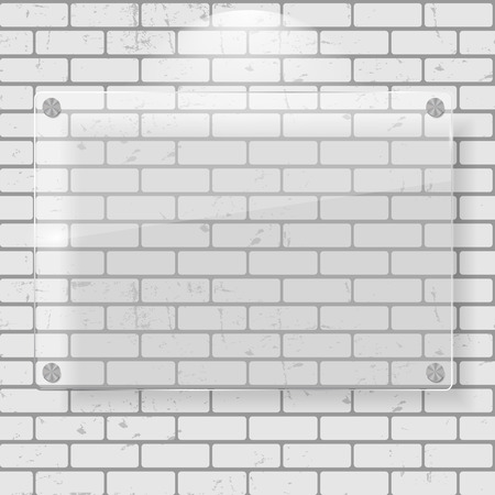 contemplation: Frame on Brick Wall for Your Text and Images, Vector Illustratio