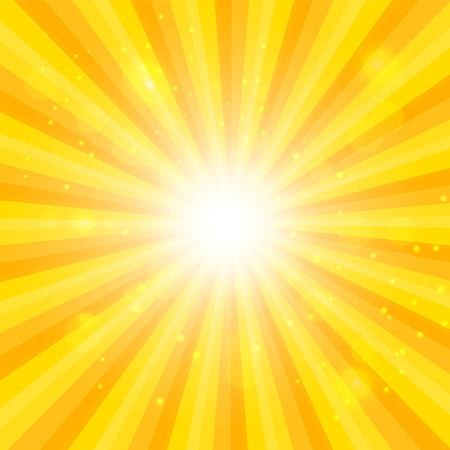 hypnotic: Orange Sun hypnotic background. Vector illustration