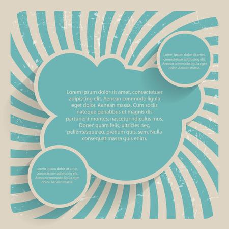 balloon background: Speech Bubbles. Vector Illustration