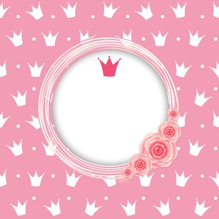 Prinzessin Crown Hintergrund Vektor-Illustration. Standard-Bild - 34632599