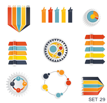mega city: Collection of Infographic Templates for Business Vector Illustra