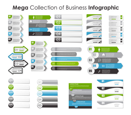 mega city: Collection of Infographic Templates for Business Illustration.