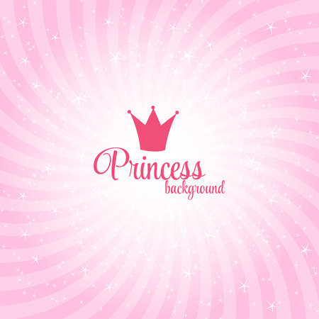 brougham: Princess Abstract  Background Vector Illustration.