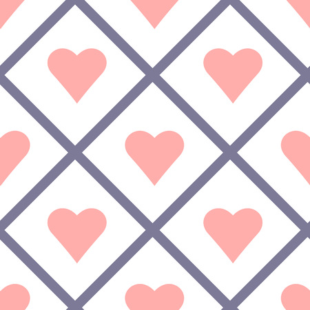 Valentine Seamless Hearts Pattern Vector Illustration Vector