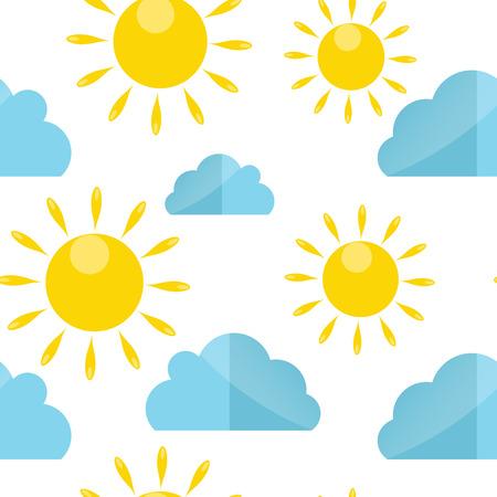 Weather Seamless Pattern Vector Illustration Illustration