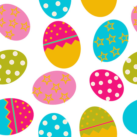 osterhase: Vector Easter Seamless pattern with eggs background Illustration