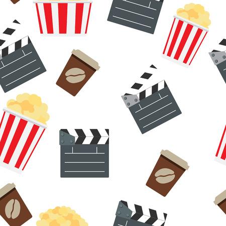 cinematographer: Cinema Seamless Pattern Background Vector Illustration