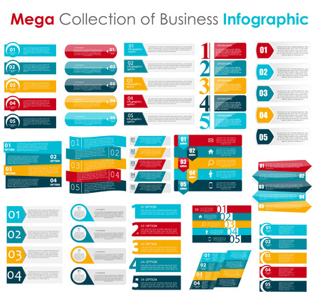 with sets of elements: Infographic Templates for Business Vector Illustration. Illustration