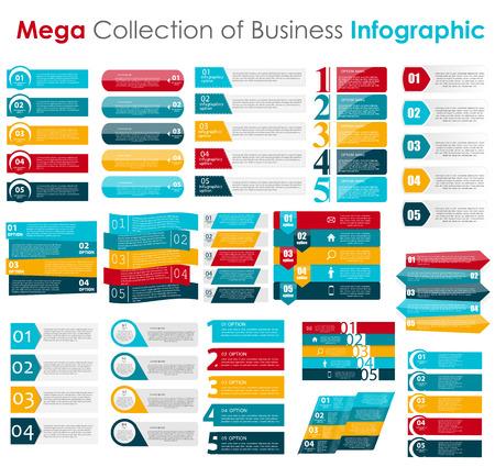 elementos: Plantillas de Infograf�a de la ilustraci�n de negocios del vector.