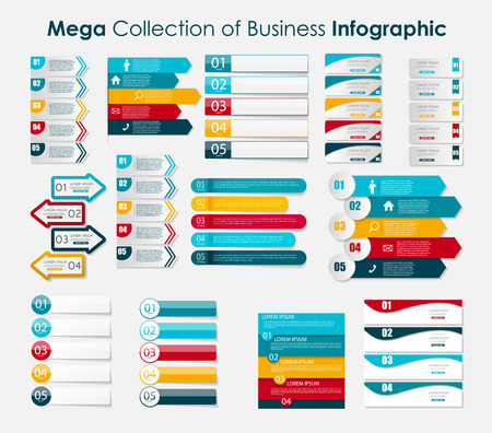 Infographic Templates for Business Vector Illustration. 向量圖像
