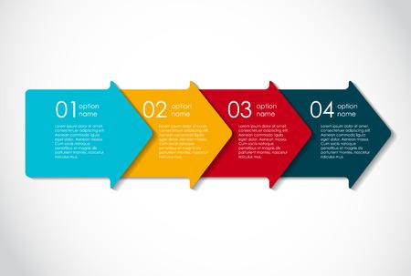 flecha: Plantillas de Infograf�a de la ilustraci�n de negocios del vector.