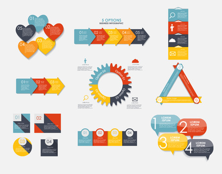 abstract numbers: Love Infographic Templates for Business Vector Illustration.