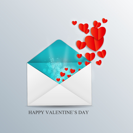 Valentine Day Card with Heart Vector Illustration Vector