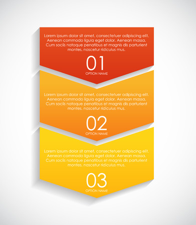 arrow icons: Infographic Templates for Business Vector Illustration. Illustration