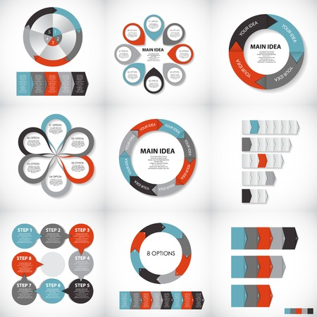 graphic element: Infographic Templates for Business Vector Illustration. Illustration