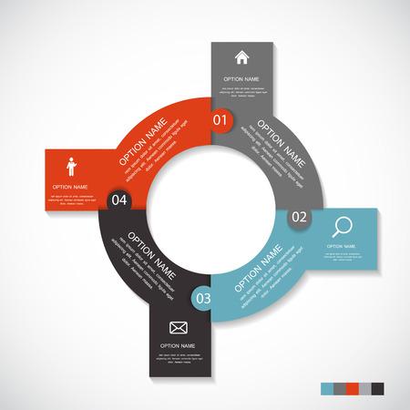 tecnolog�a informatica: Plantillas de Infograf�a de la ilustraci�n de negocios del vector.