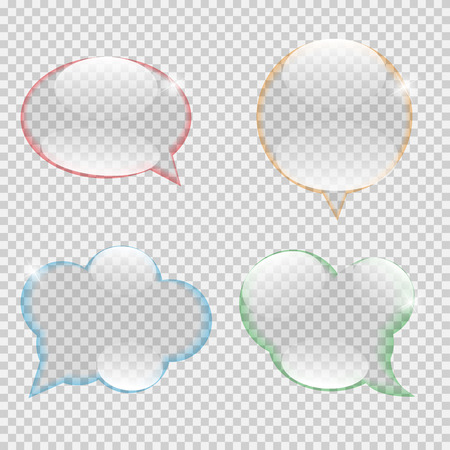 transparency: Glass Transparency Speech Bubble Vector Illustration