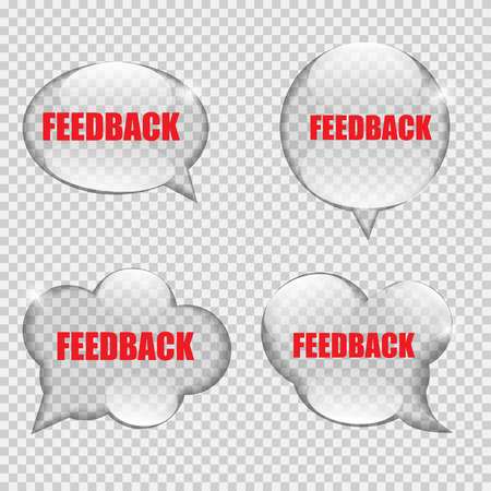transparency: Glass Transparency Feedback Speech Bubble Vector Illustration Illustration