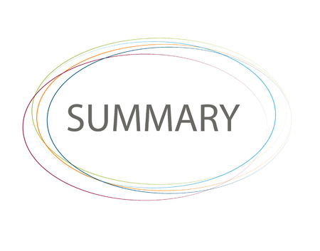 summary: Summary Sign Vector Illustration.