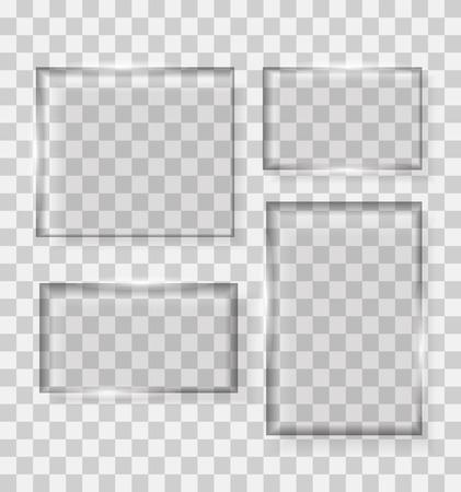 transparency: Glass Transparency Frame Vector Illustration