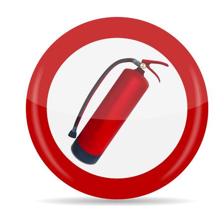 fire extinguisher sign: Extintor Suscribirse Ilustraci�n vectorial