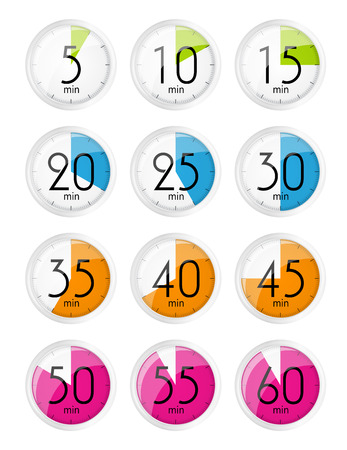designation: Silver Watch Designation Minutes. Vector Illustration EPS10