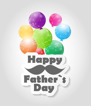 fathers day background: Happy Father`s Day Poster Card Vector Illustration