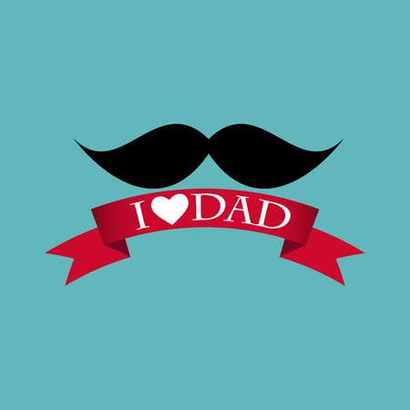 Happy Father`s Day Poster Card Vector Illustration EPS10 Illustration