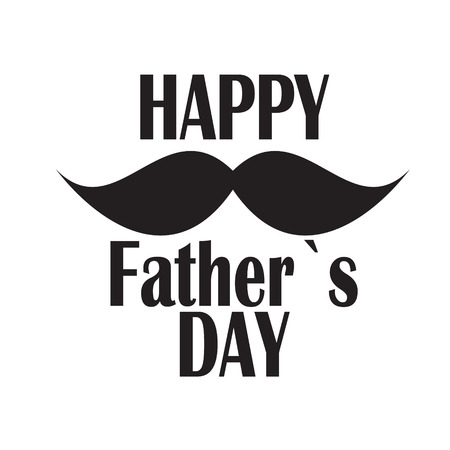 and father: Happy Father Day Poster Card Vector Illustration