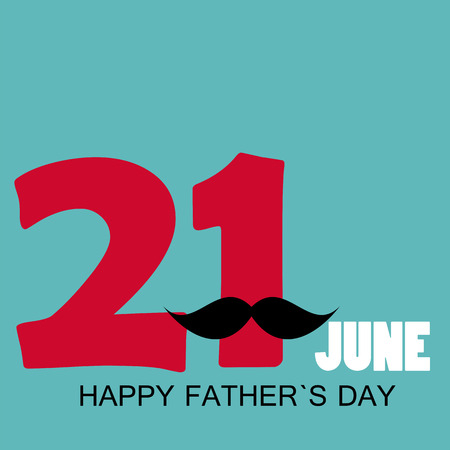 fathers  day: Happy Father`s Day Poster Card Vector Illustration