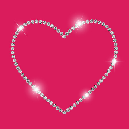 multi layered effect: Abstract Luxury Diamond Heart Vector Illustration