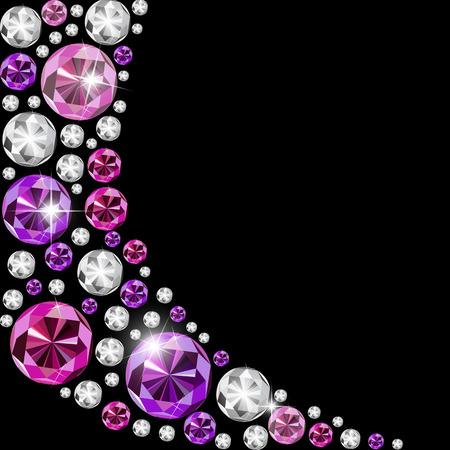 multi layered: Abstract Luxury Black Diamond Background Vector Illustration Illustration