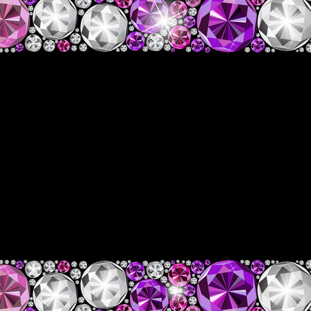 diamond background: Abstract Luxury Black Diamond Background Vector Illustration EPS10