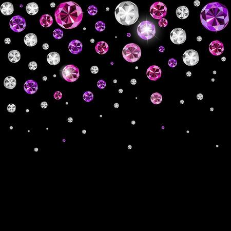 multi layered effect: Abstract Luxury Black Diamond Background Vector Illustration Illustration
