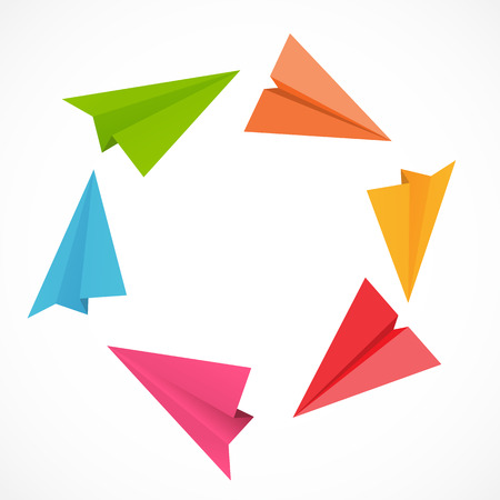 paper plane: Airplane Backgrund Vector Illustration