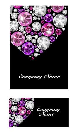 multi layered effect: Abstract Luxury Black Diamond Business Card Vector Illustration