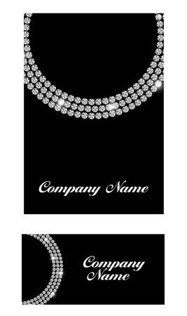 Abstract Luxury Black Diamond Business Card Vector Illustration