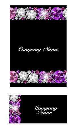 multi layered: Abstract Luxury Black Diamond Business Card Vector Illustration