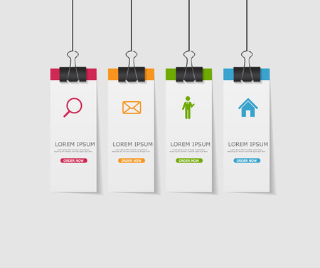 Infographic Template for Business Vector Illustration Çizim